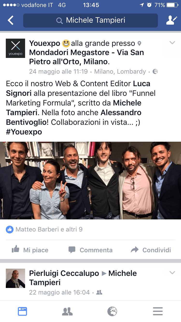 commenti funnel marketing formula michele tampieri
