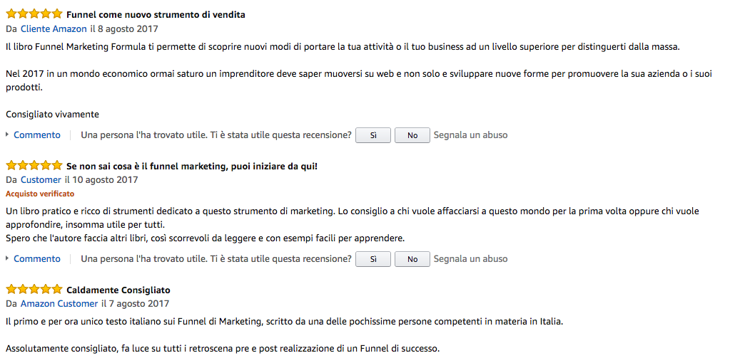 Review Amazon Libro Funnel Marketing Formula